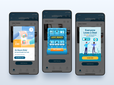Referral Pop-Up of eufySecurity APP branding referral