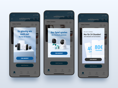 Promotional Pop-Up of eufySecurity APP branding