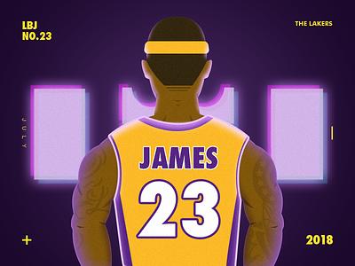 LBJ x The Lakers invite illustration basketball lakers james lebron
