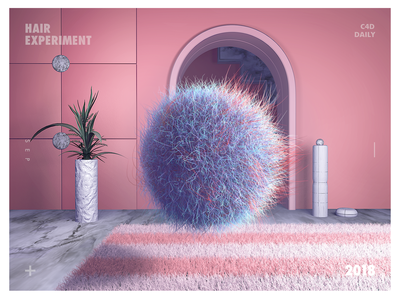 THE HAIR pink c4d