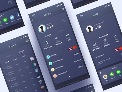 Some Redesigns dark dji icons interface ui