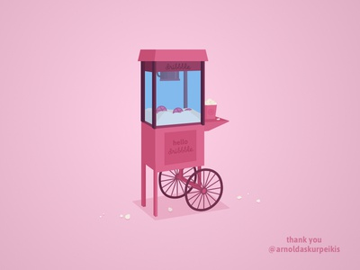 Hello Dribbble! sketchapp 2018 hello dribbble dribbble popcorn machine popcorn