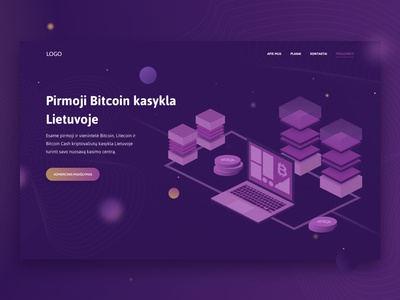 Bitcoin mining facility website design illustration web design uiux blockchain bitcoin