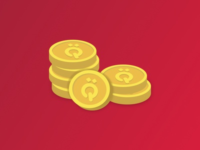 Golden tokens illustration sketchapp game ui coins gold tokens