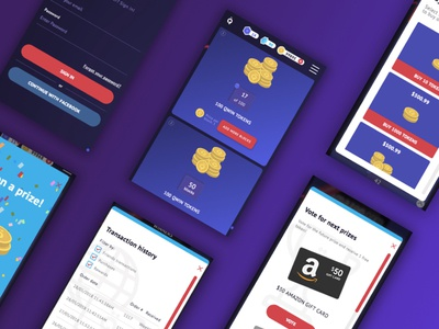 Qwin MVP illustration mobile responsive design uiux mvp blockchain