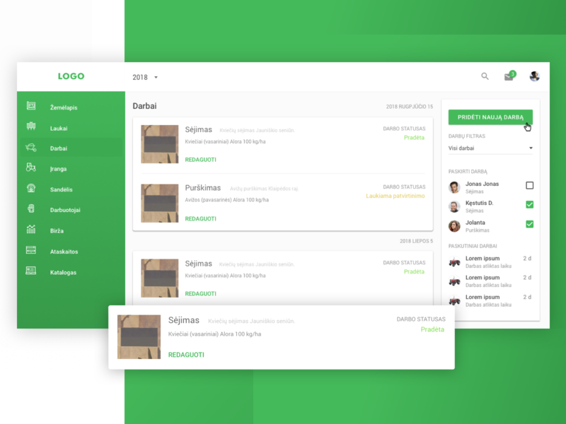 Task management dashboard user experience saas platform material ui dashboard