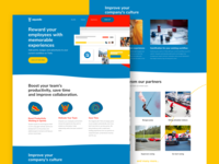 Landing page design for Squado