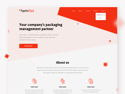 Landing page design for packaging company landing page design onepage ui design uiux web design landing page