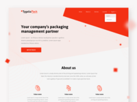 Landing page design for packaging company
