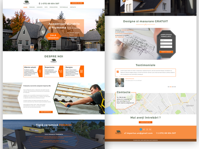 Imperlux company,Landing Pages ux design ui design web design landing page