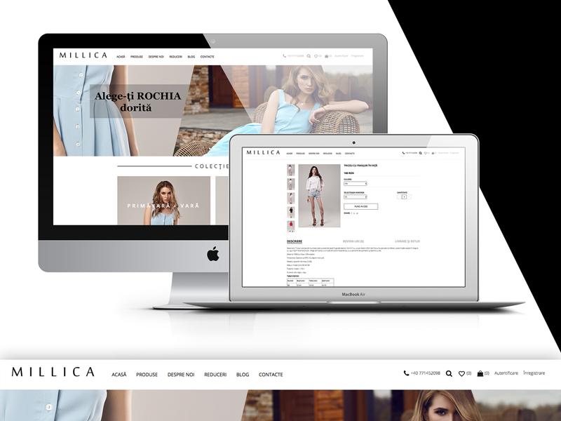 MILLICA WebSite_Online shop ux design ui design online shop shop store web design web site