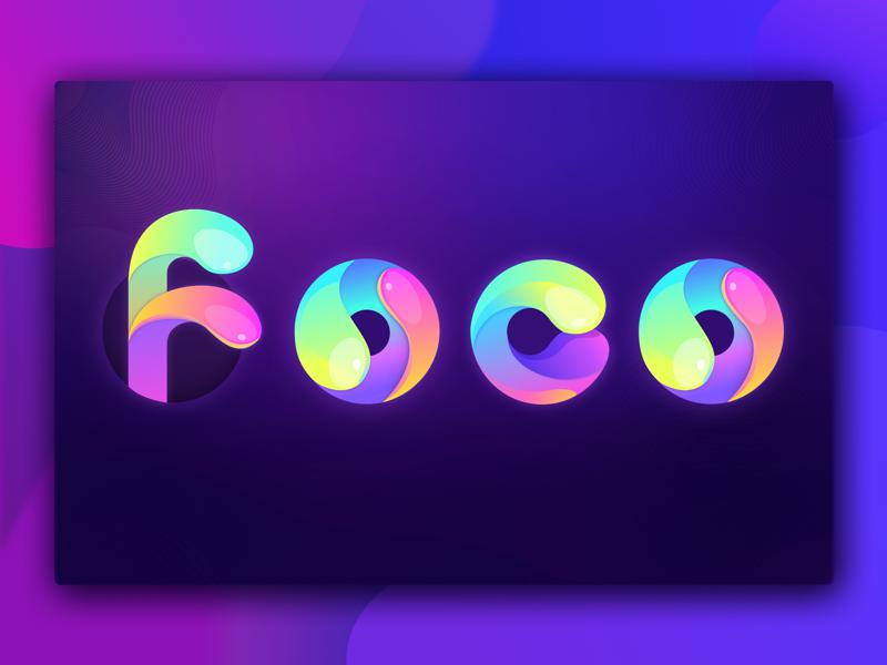 Foco logo ui design