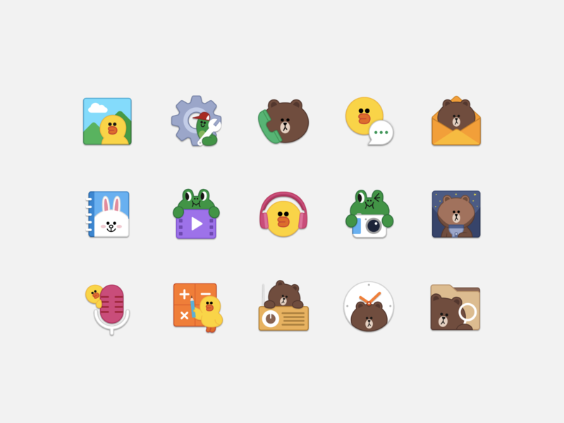 LINE FRIENDS App icons ui vector icon app character