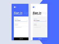 Sign in - Daily UI #001