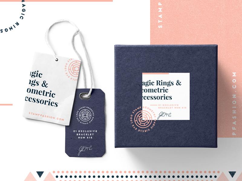 Geometric branding (packaging design) branding geometric logo grids eye creative market design box tag packaging logo template badge
