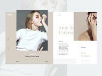 Model's portfolio page