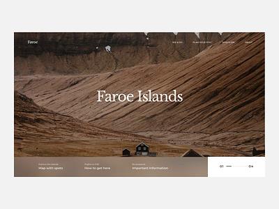 The Faroe Islands - scroll animation booking faroe behance scrolling animated gif minimalist mp4 grid web design web ui typography mountains scroll animation animation scroll nature faroe islands