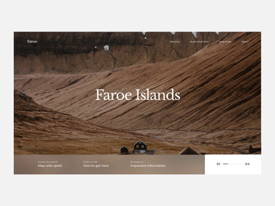 The Faroe Islands - scroll animation booking faroe behance scrolling animated gif minimalist mp4 grid web design web ui typography mountains scroll animation animation scroll nature faroe islands