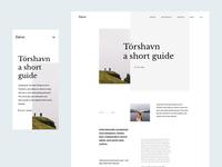 Faroe Islands - Article Page torshavn mobile resposive article page article aesthetic minimalist typography web design webdesign grid nature ui web faroe islands faroe