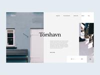 See & Do in the Faroe Islands animation mountains minimalism grid gif mp4 web typography behance aesthetic slider uidesign ui  ux ui webdesign faroe islands faroe
