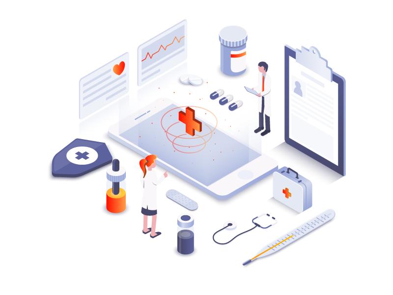 科技医疗 ui,illustration