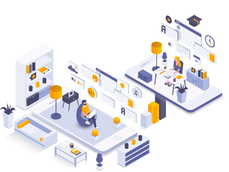 Upstairs And Downstairs ui,illustration