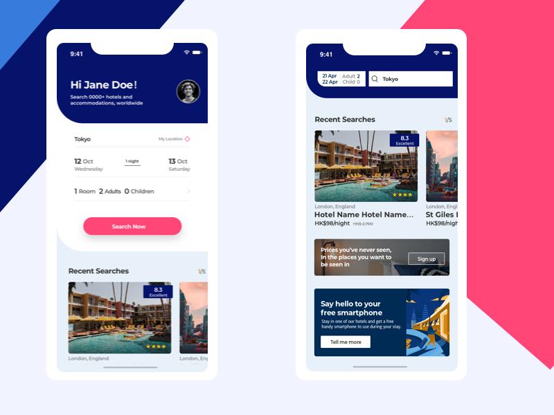 Hotel App ui