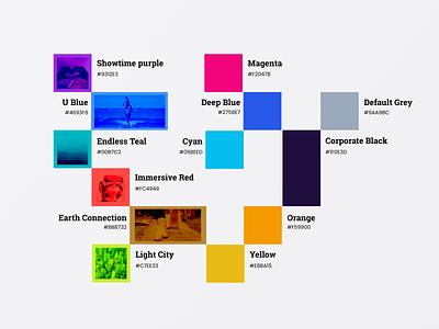 Involves Brand color pallete colorpalette color branding