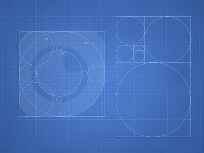 Smar.t - icon launcher proportion blue print proportion launcher icon golden ratio icon