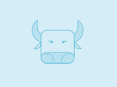 Ox  The Instinctive Brain ox instinctive brain geometric monochromatic