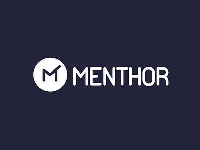 Menthor  logo menthor iv branding