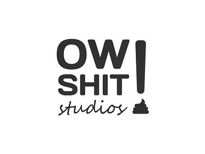 Ow Shit studios studio shit branding logo icon