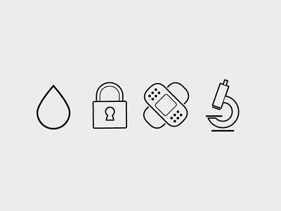 Simple icon deck outline minimalist helth
