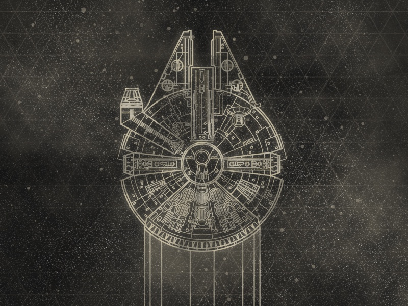 Millennium Falcon By Lindsey Cowley Dribbble Dribbble