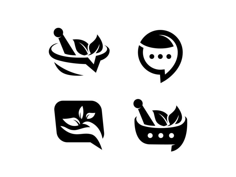 Herb-Chat logo design alternative concepts