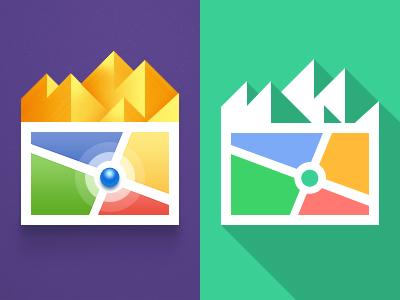 Google Map navigation icon google map pure mountain ios ipad iphone