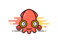 Cartoon squid