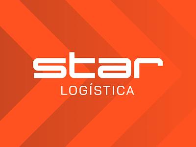 Star Logística - Visual Identity transportation logistics minimalist logotype branding typography logo design logo