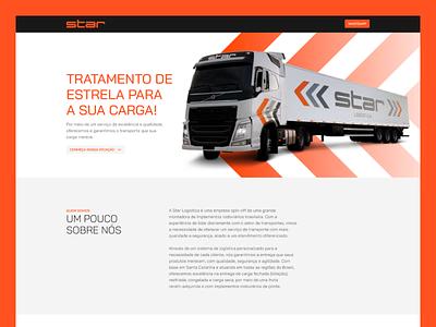Website | Star Logística typogaphy logistics interface website minimalist ui