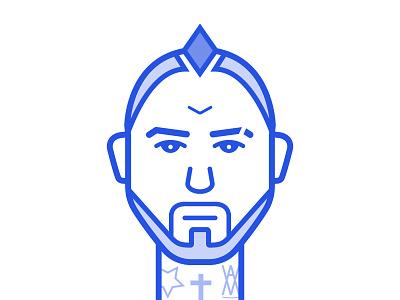 King Arturo Vidal Illustration arturo vidal futbol chile football soccer bayern vidal arturo king