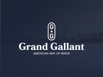 Branding — Grand Gallant american cerveja logotipo craft beer brewing beer design logotype branding logo design logo
