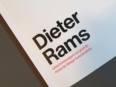 Dieter Rams book cover braun book cover print rams dieter rams dieter book design