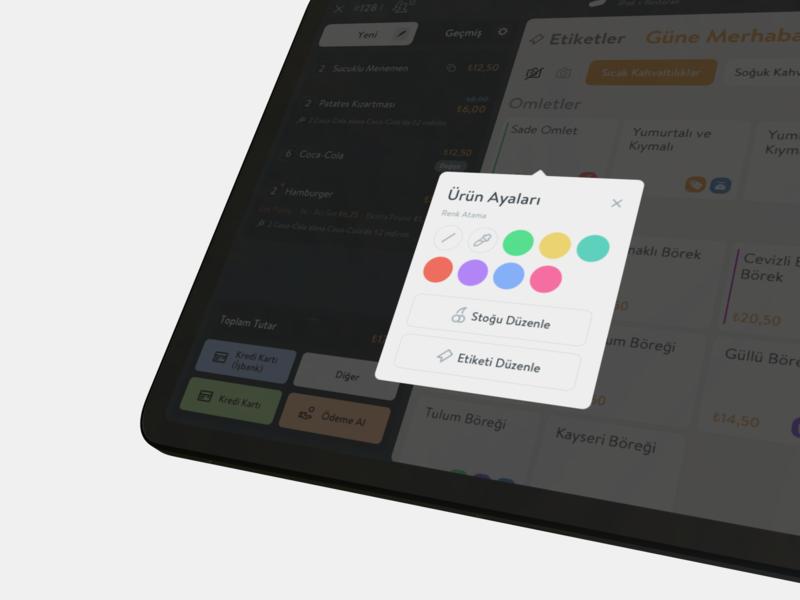 Color Tag (POS System) minimal icon ux design ios app ui color palette pos product tag color