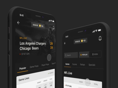 NFL Betting Prototype betting motion prototype iphone ux ios app gif mobile animation