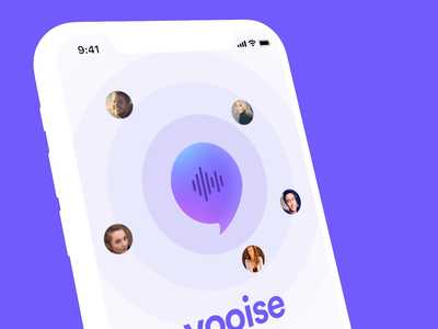 Concept Voice App voice location application logo iphone icon ux design mobile ios ui kit uiux ui mockup rotato motion app concept