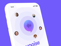 Concept Voice App voice location application logo iphone icon ux design mobile ios ui kit uiux ui mockup rotato motion app concept