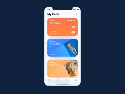 Monzo mobile app concept
