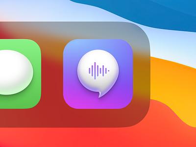 Concept App Icon as Mac OS Big Sur Style vector branding minimal logo design ui trend style ios14 apple app icon bigsur macos mac ios