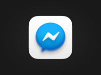 Messenger Icon iOS 14 icon logo minimal iphone animation ui design mobile app chatting chat messenger facebook apple bigsur ios14 ios