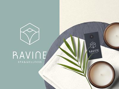 Ravine Spa & Wellness Branding typography vector illustration design logodesign logo branding wellness logo wellness